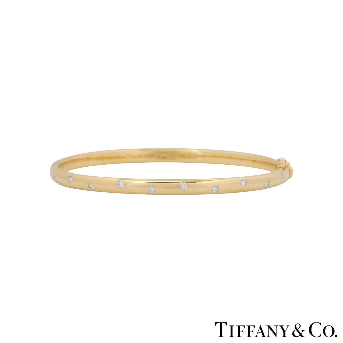 Tiffany & Co. Yellow Gold Etoile Diamond Bangle